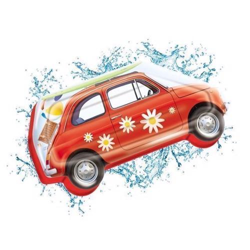 Image of Bademadras Vintage bil (8001011167272)