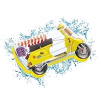 Bademadras retro Scooter