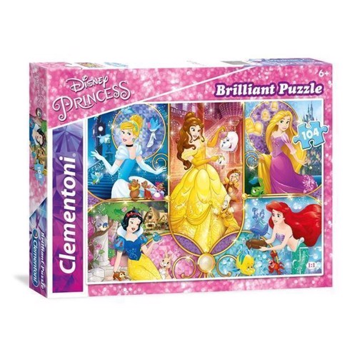 Image of Clementoni, puslespil med Dinay Prinsesser 104 dele