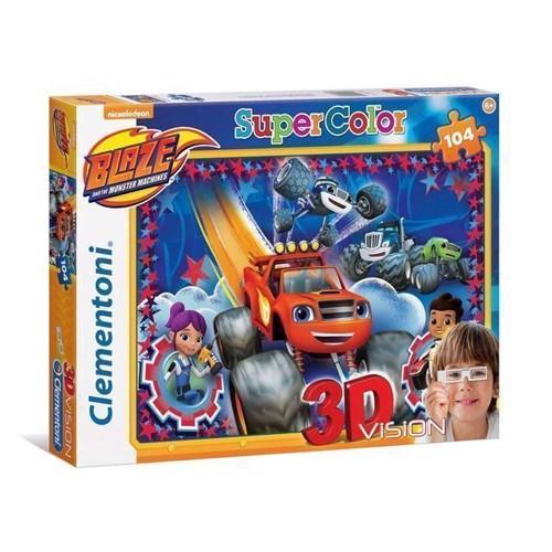 Image of   3D puslespil Blaze og monstermaskinerne. 104 brikker