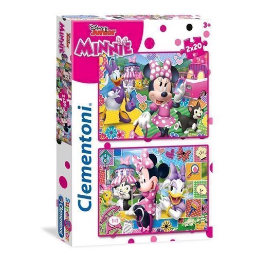 Image of Puslespil med Minnie Mouse, 2x20 brikker (8005125247509)