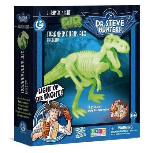 Image of Geoworld selvlysende dinosaur byggesæt, Tyrannosaurus Rex (8033576219844)