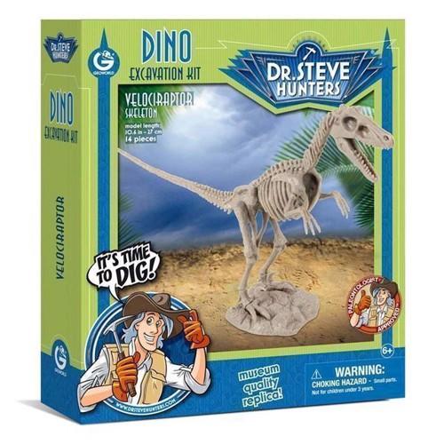Image of Geoworld Dinosaur udgravning Velociraptor Skelet (8033576219912)
