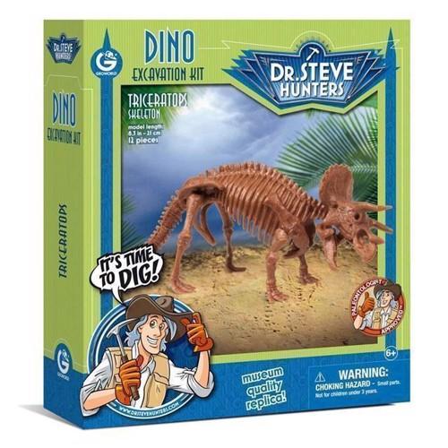 Image of Geoworld Dinosaur udgravning Triceratops Skelet (8033576219936)
