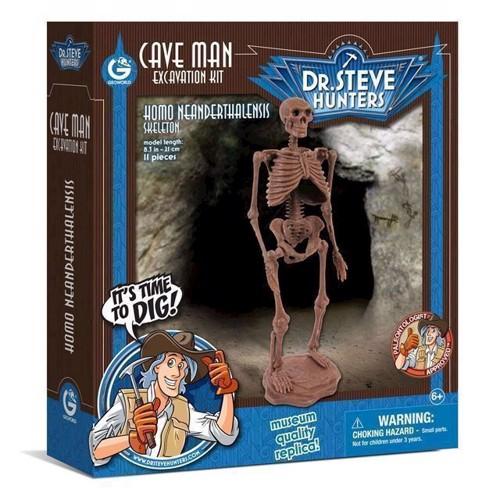 Image of Geoworld hulemand udgravnings sæt, Neandertaler skelet (8056515360148)