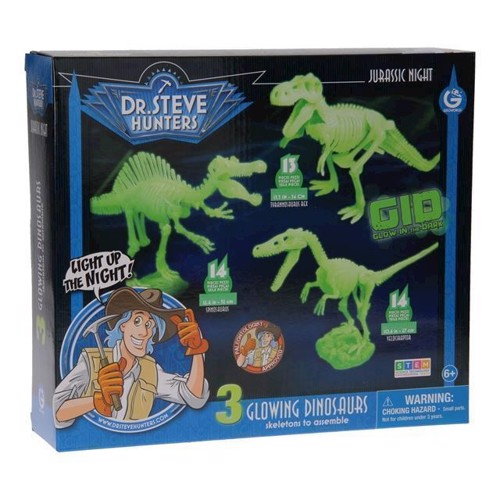Image of Geoworld Jurassic Night selvlysende dinosaur byggesæt (8056515361244)