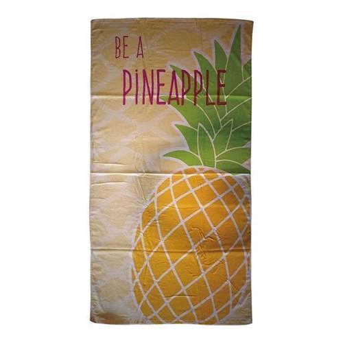 Image of   Badehåndklæde, ananas 170x90cm
