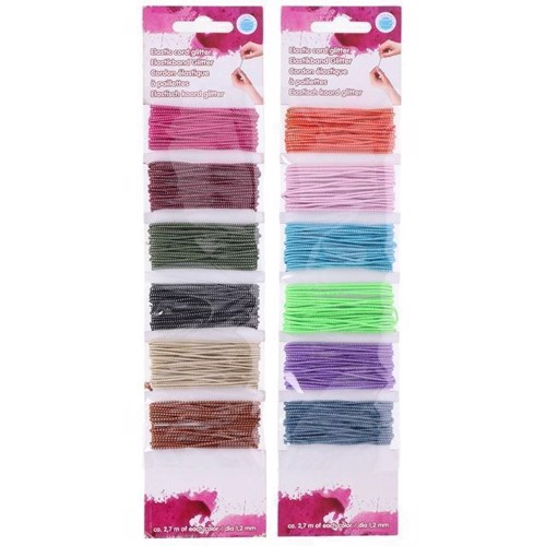Image of   Farvet hoppy elastikker, 6 farver