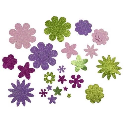 Image of   Hobby klistermærker, blomster, ca 200 stk