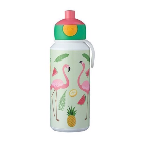 Image of Rosti Mepal Pop-up Tropical Flamingo Drikkeflaske 400 ml (8711269947518)