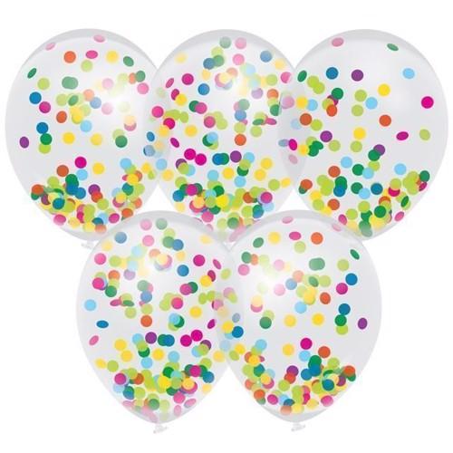 Image of   Balloner, Confetti Color, 5 stk. Ø30cm.