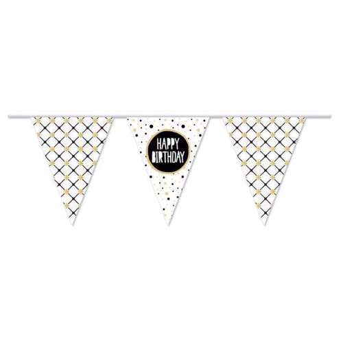 Image of Banner Happy Birthday Guld, 10 m