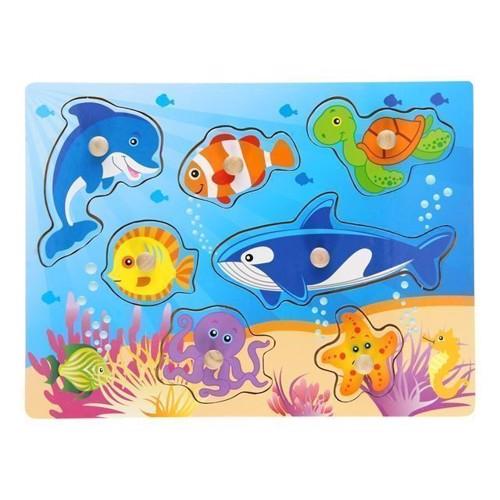 Image of   Knoppuslespil, undervandsverden