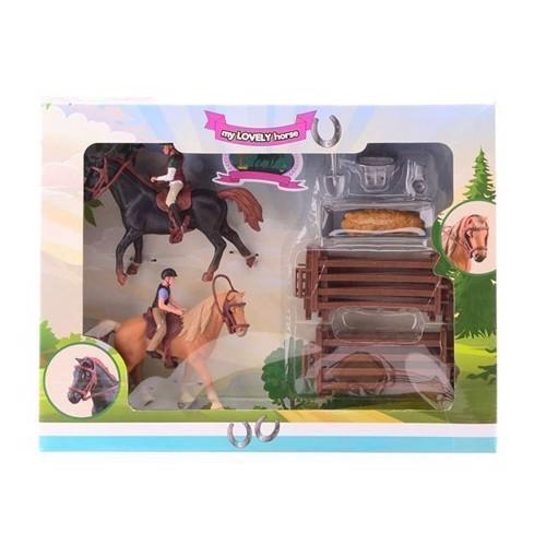 Image of Legesæt med heste XL