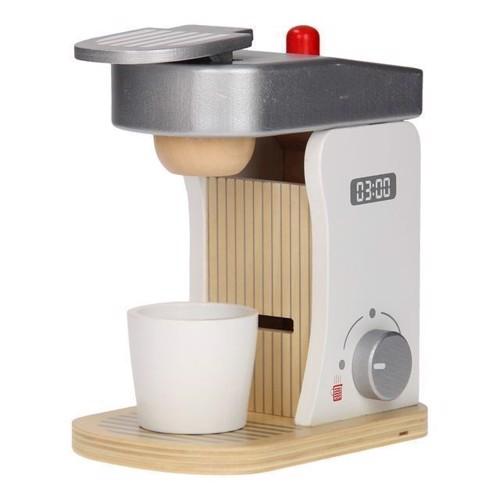 Image of Jouéco, kaffemaskine med tilbehør i træ (8711866800582)