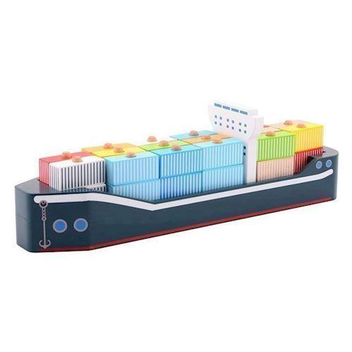 Image of Jouéco, kontainer skib i træ (8711866800674)