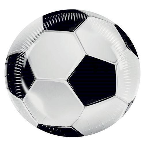 Image of   Tallerkener, Fodbold, 6 stk