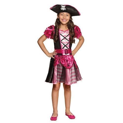 Image of Børne kostume pirat, pige 4-6 år (8712026822604)