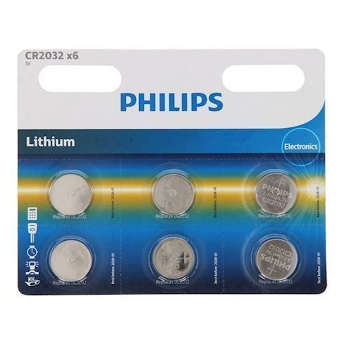 Image of Philips Battery Lithium CR2032, 6pcs.