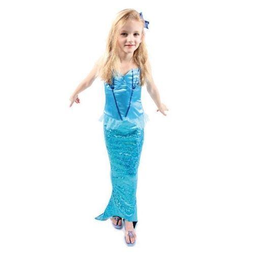 Image of havfrue kjole blå (8712916073628)