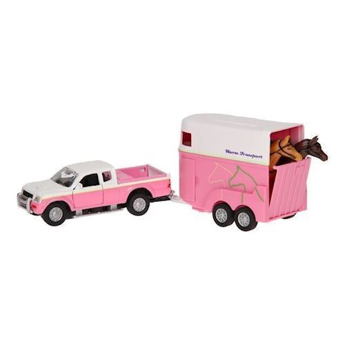 Image of Pickup med hestetrailer Pink
