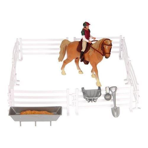 Image of Legesæt, hest og rytter med tilbehør