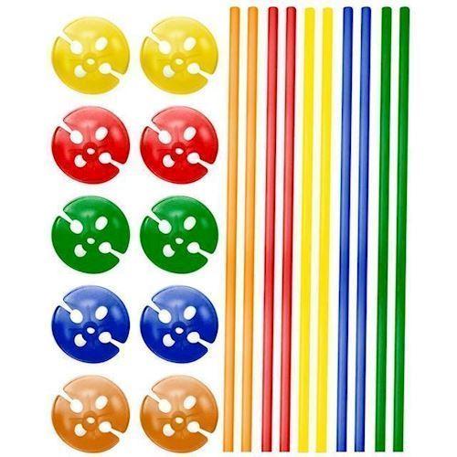 Image of   Ballon holdere i farver, 10 stk
