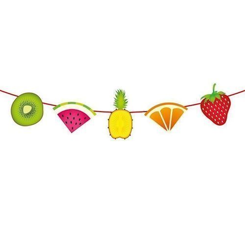Image of   Banner med frugter, 6 m