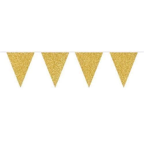 Image of Banner, guld glimmer, 6 m