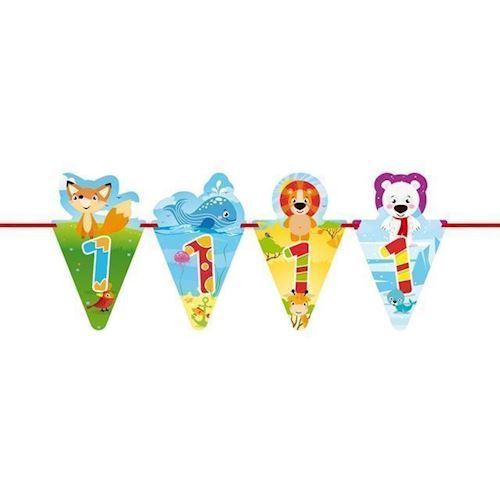 Image of   Banner med dyr, 1 år
