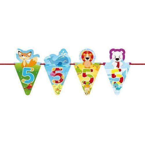 Image of   Banner med dyr, 5 år