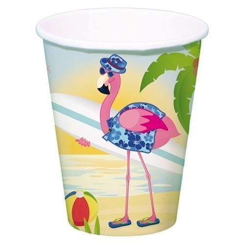 Image of Engangskrus Flamingo, 8 stk (8714572653411)