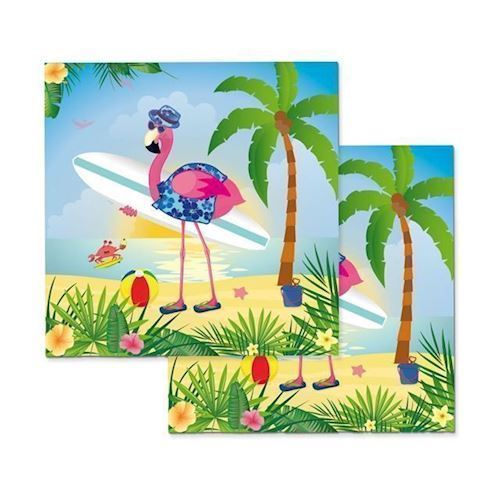 Image of   Servietter flamingo 20 stk