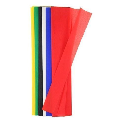 Image of   Crepe papir 6 farver