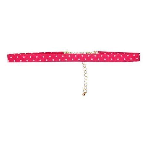 Image of   Børne halskæde, prikker, lyserød