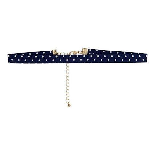 Image of   Børne halskæde, prikker blå