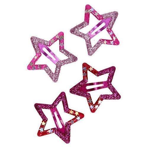 Image of   Hårclips med stjerne, 4 stk