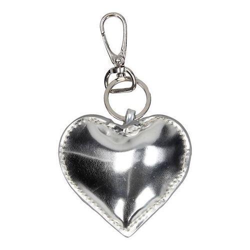 Image of   Nøglering, hjerte, sølv