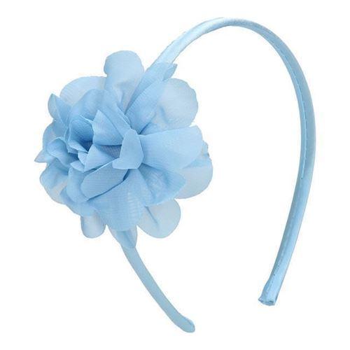 Image of Diadem, pandebånd, med blomst blå