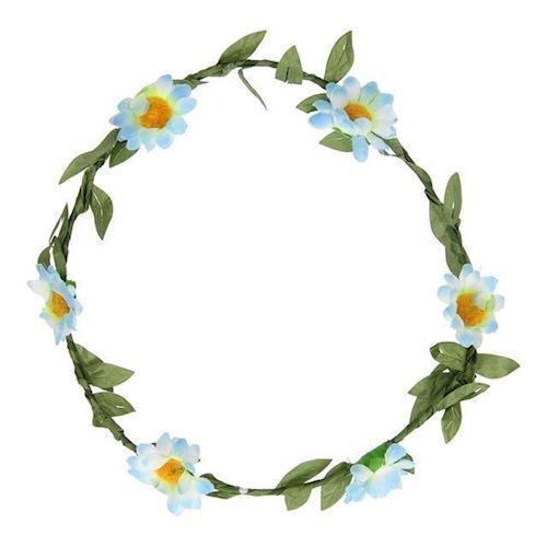 Image of   Hårkrans med blomster