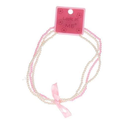 Image of   Halskæde med perler og sløjfe 2 stk