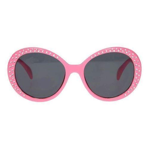 Image of   Børnesolbriller, lyserød med glimmer sten