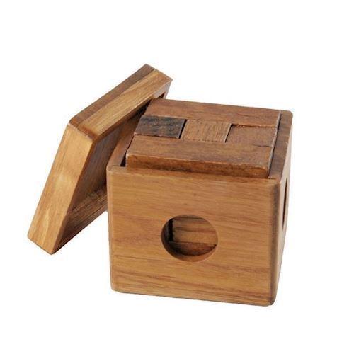 Image of IQ puslespil i træ, cube