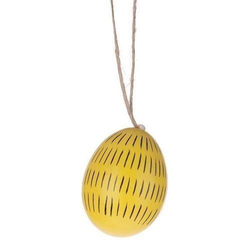 Image of Påskepynt, æg med motiv 6 stk (8716527233686)