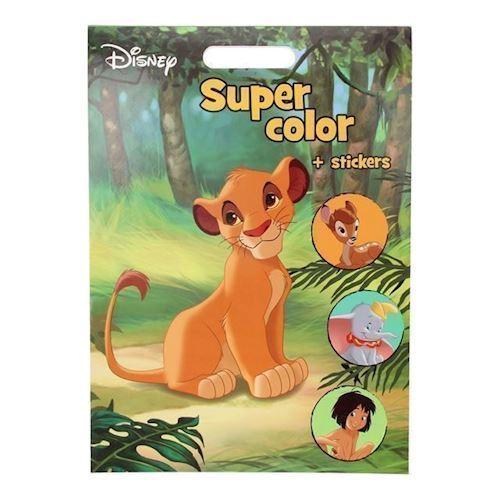Image of   Disney Super malebog med klistermærker