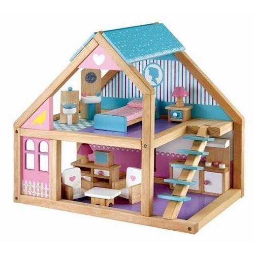 Image of   Dukkehus med tilbehør