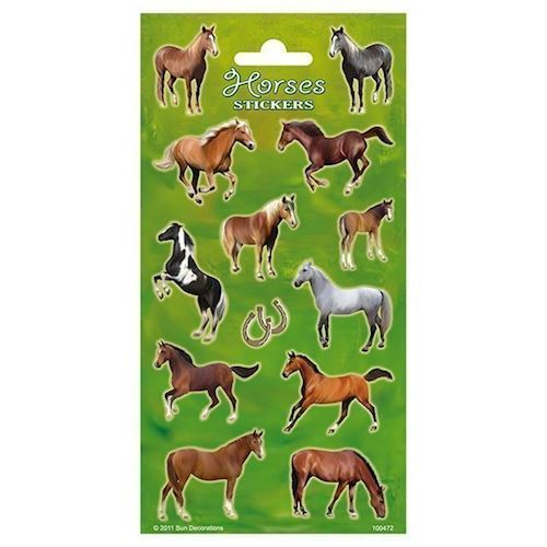 Image of   Klistermærker med heste