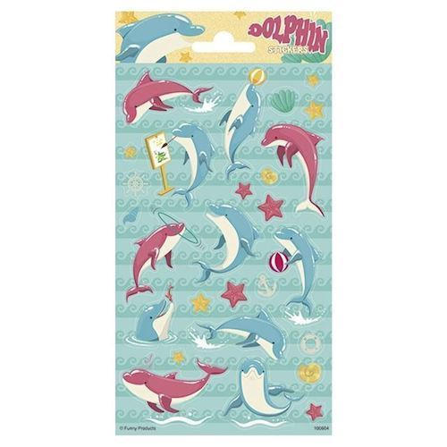 Image of   Klistermærker, delfiner