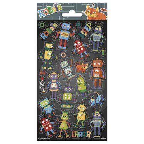 Image of   Klistermærker, robotter