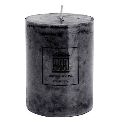 Image of Pillar candle Rustic Black, 12 cm (8719202261745)